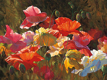 Poppies in the Sunshine __30 x 40
